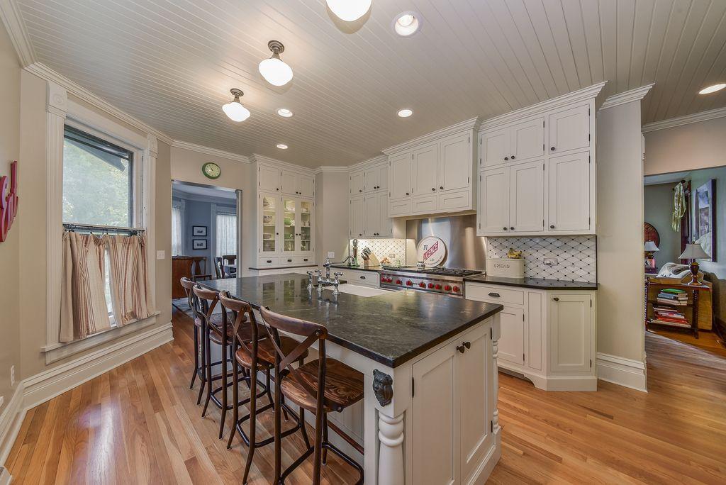 Restored Remodeled Queen Anne Victorian House Period Kitchen Tile Backsplash