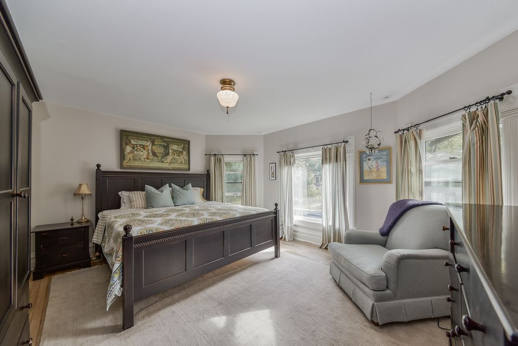 Restored Remodeled Queen Anne Victorian House Master Bedroom