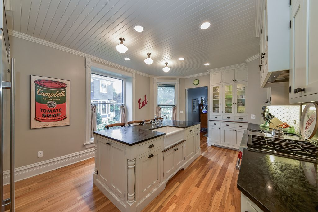 Restored Remodeled Queen Anne Victorian House Period Kitchen