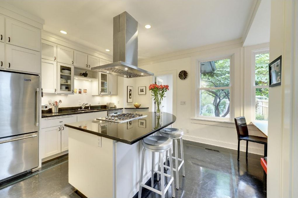 Folk Victorian House Updated Modern Kitchen Stainless Steel Appliances