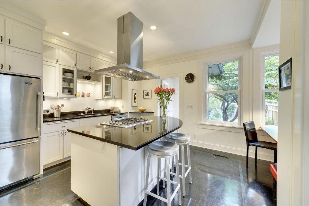 Folk Victorian House Updated Modern Kitchen Stainless Steel Appliances