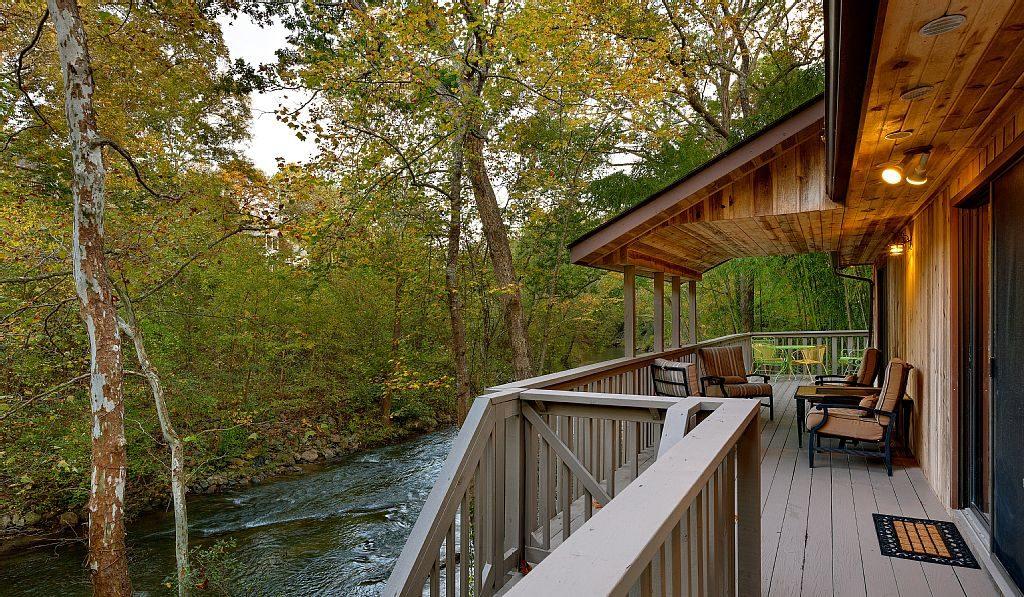 Rustic Cabin Wood Deck