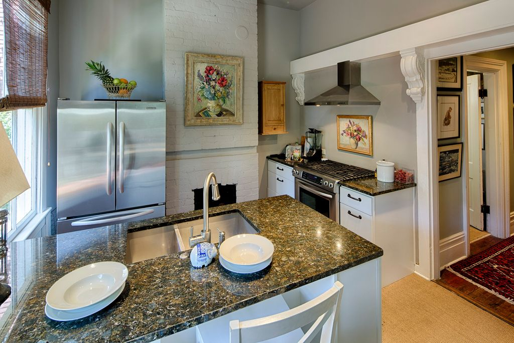 Restored Italianate House Kitchen Stainless Steel Appliances