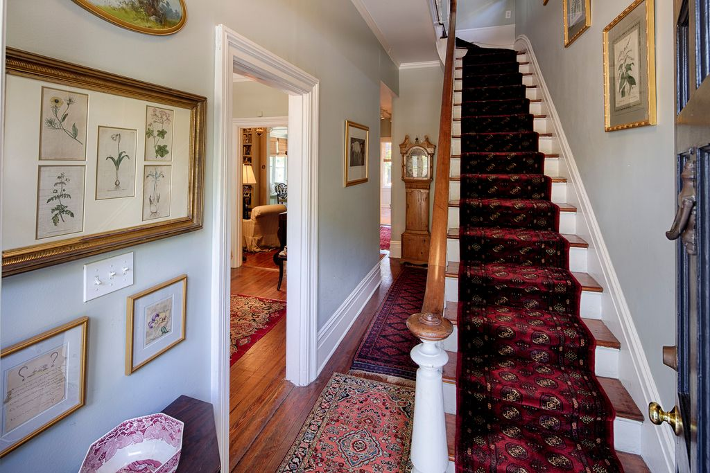 Restored Italianate House Entry Foyer Historic Stair