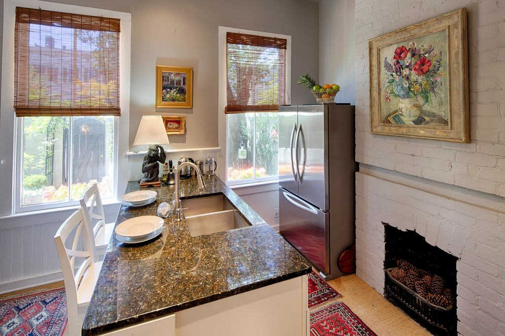 Restored Italianate House Kitchen Stainless Steel Appliances