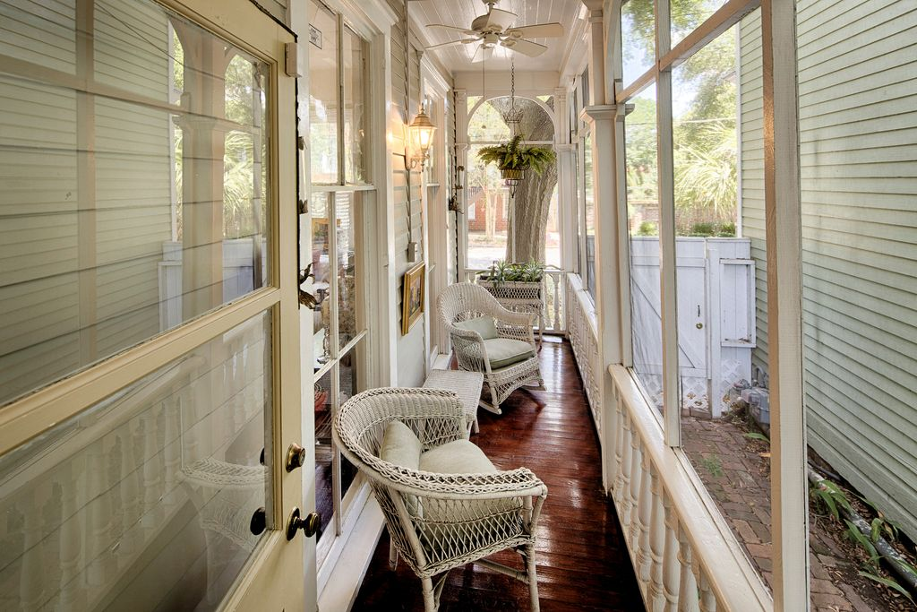 Restored Italianate House Screened Porch Side Porch