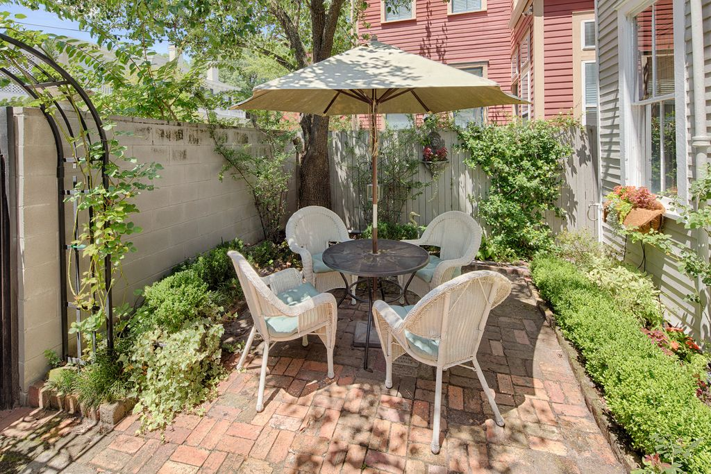 Restored Italianate House Breakfast Room Addition Backyard Patio