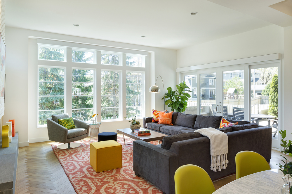 Contemporary Family Room Big Windows