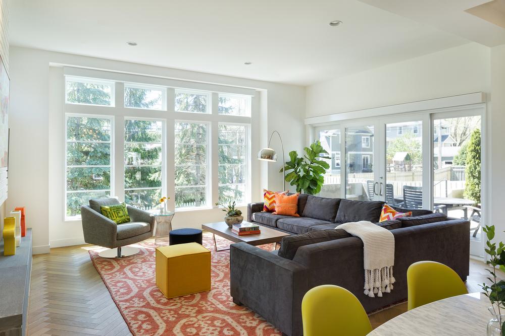 Contemporary Family Room Big Windows