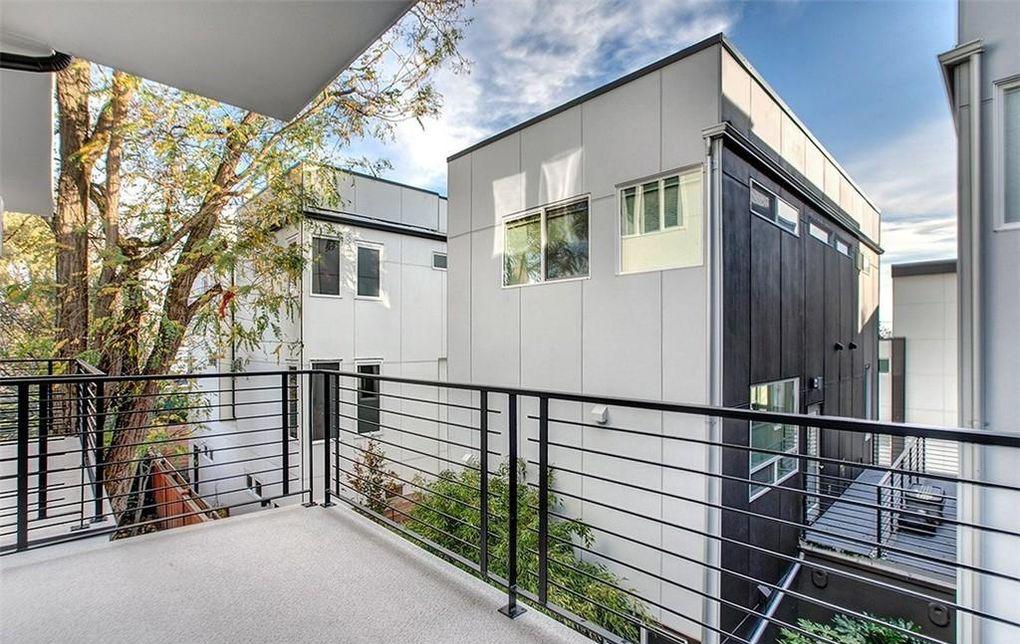 contemporary modern condo steel railing balcony