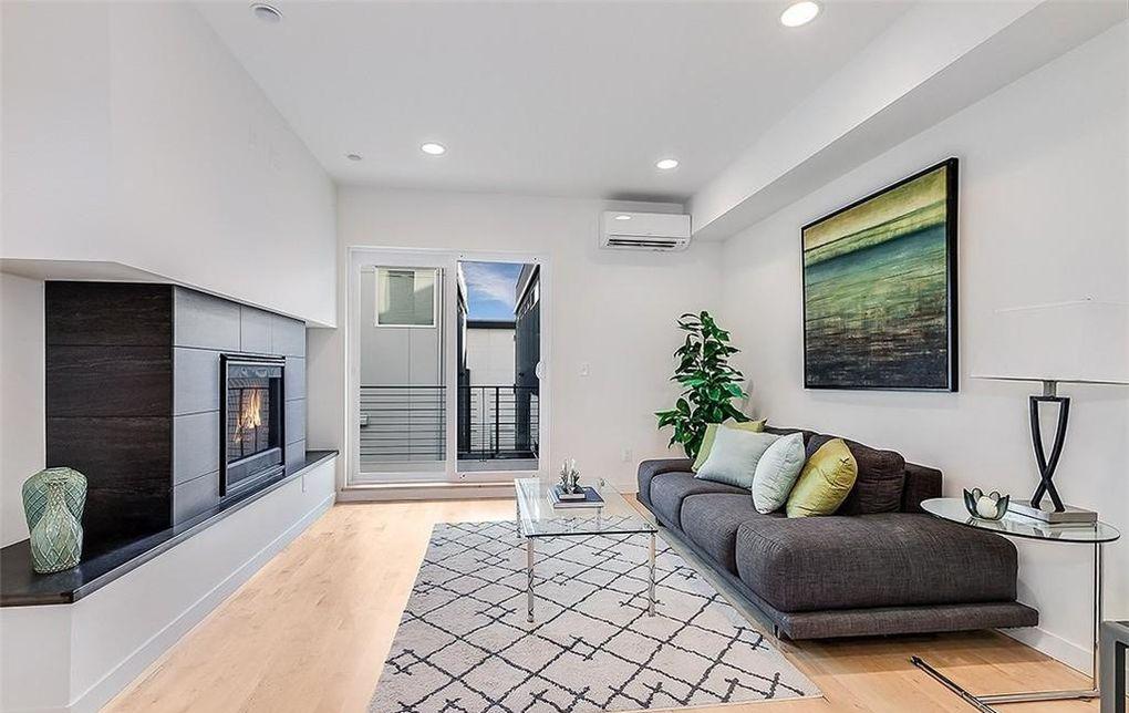 Contemporary modern condo interior white walls