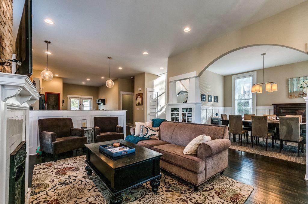 Remodeled Craftsman Bungalow Living Room