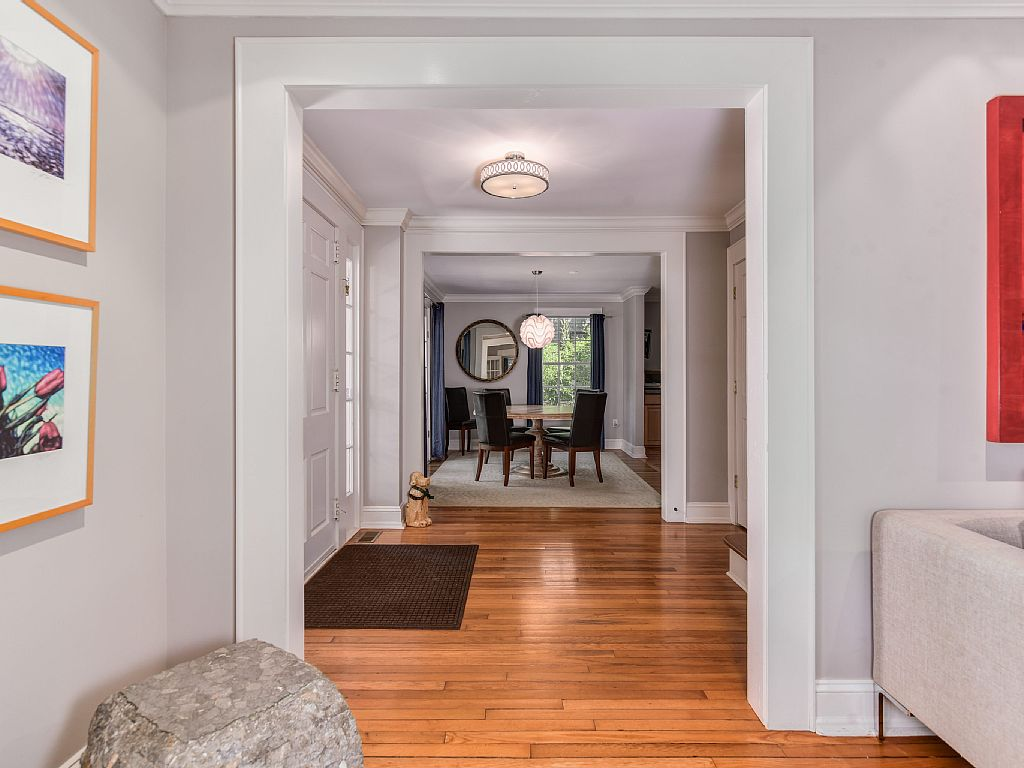 Colonial Two-Story Home hallway dining room