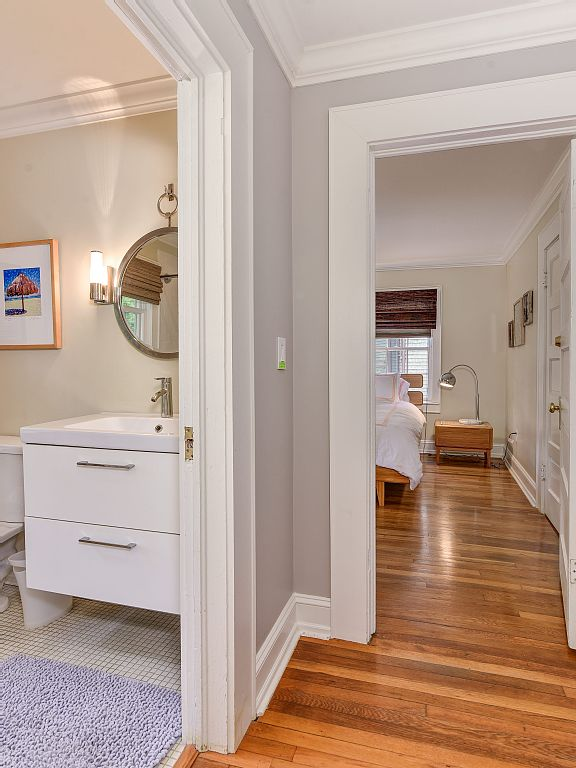 Colonial Two-Story Home hallway hall bath