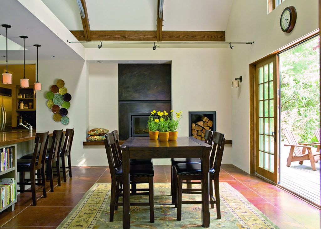 Barn house modern interior dining room