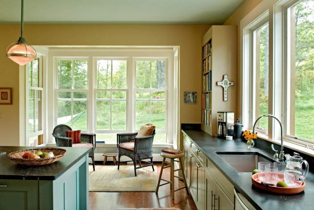 New Custom Farmhouse kitchen soapstone countertops