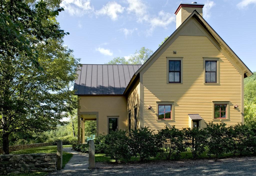 New Custom Farmhouse painted wood siding