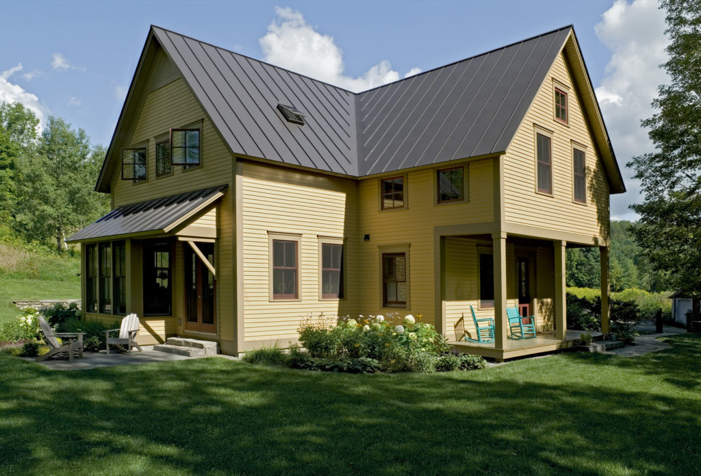 New Custom Farmhouse standing seam metal roof