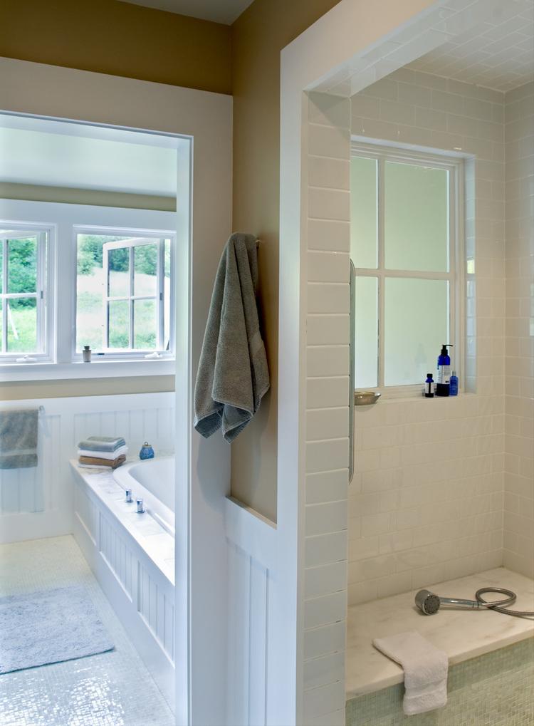 New Custom Farmhouse master bathroom shower