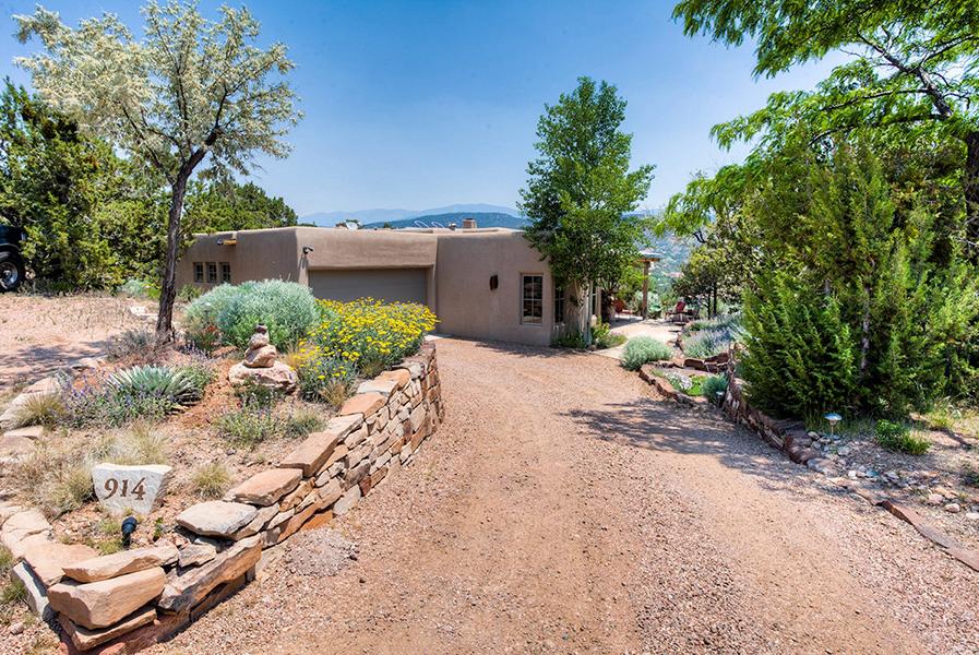 Santa Fe Adobe Pueblo Home