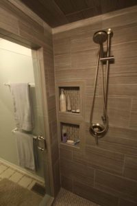 How We Re-Tiled Our Big Master Bath Shower (with help). Part Two