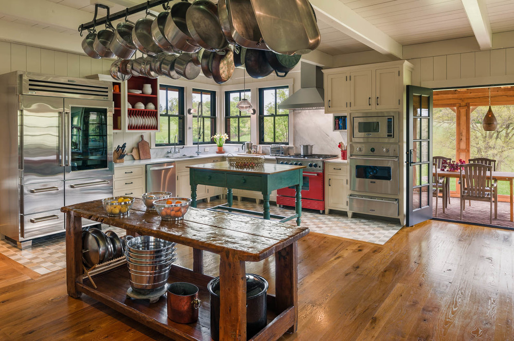 Farmhouse Kitchen Commercial Appliances