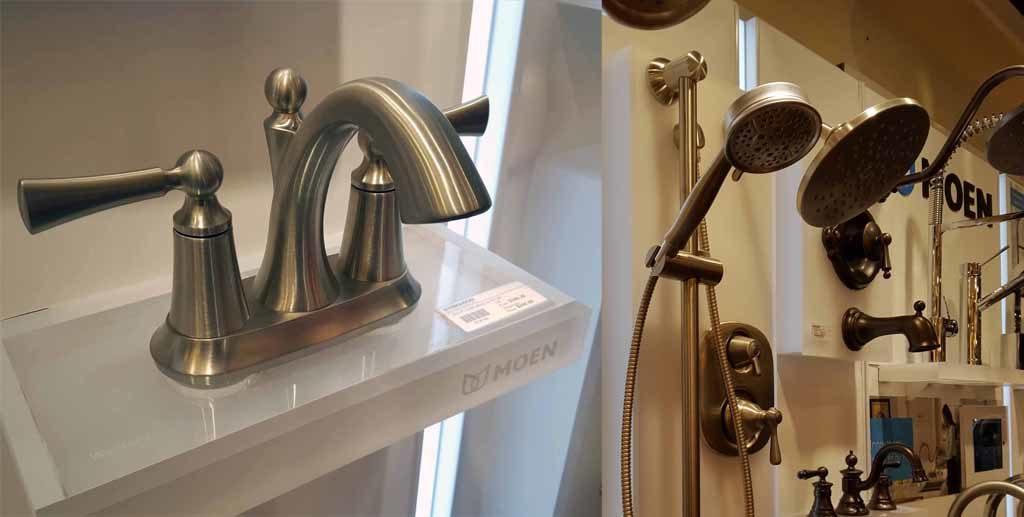 Re-tile master bath shower Moen shower wand Moen faucet