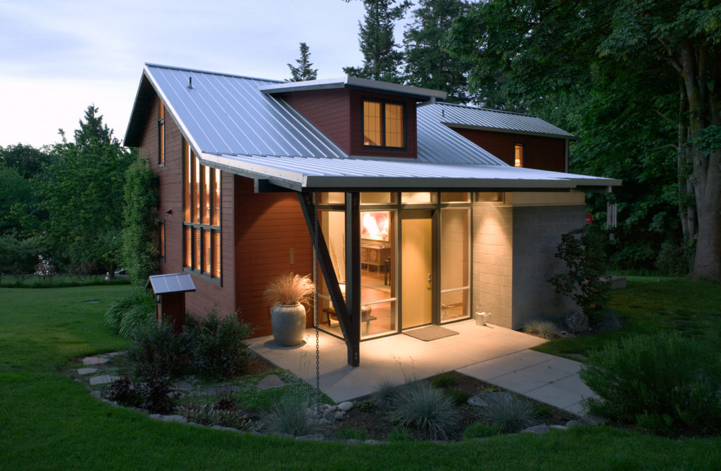 Contemporary Cottage Modern Studio Standing Seam Metal Roofing