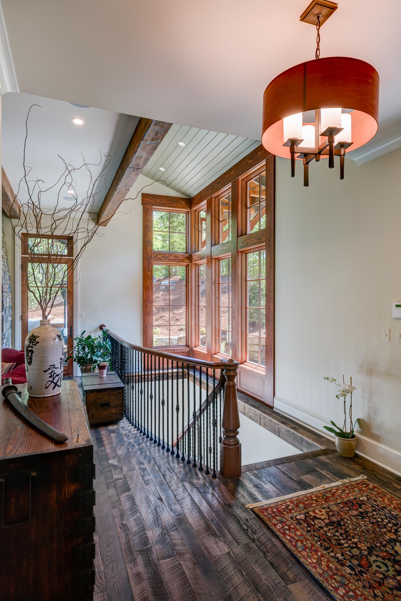 Craftsman Mountain Cabin Cottage open stairway