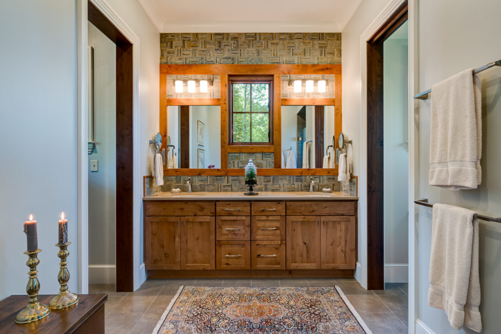 Craftsman Mountain Cabin Cottage master bathroom