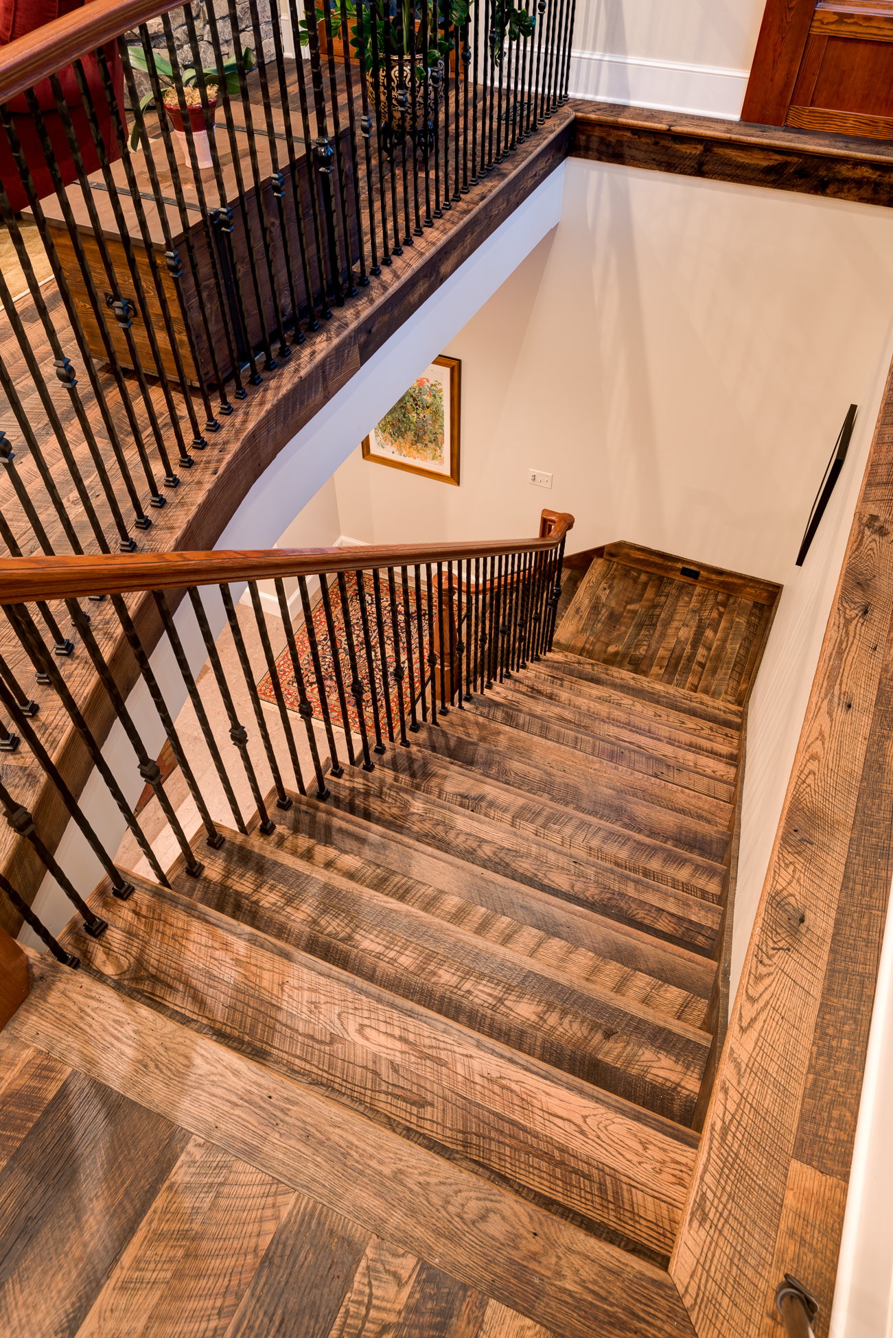 Craftsman Mountain Cabin Cottage open stairway