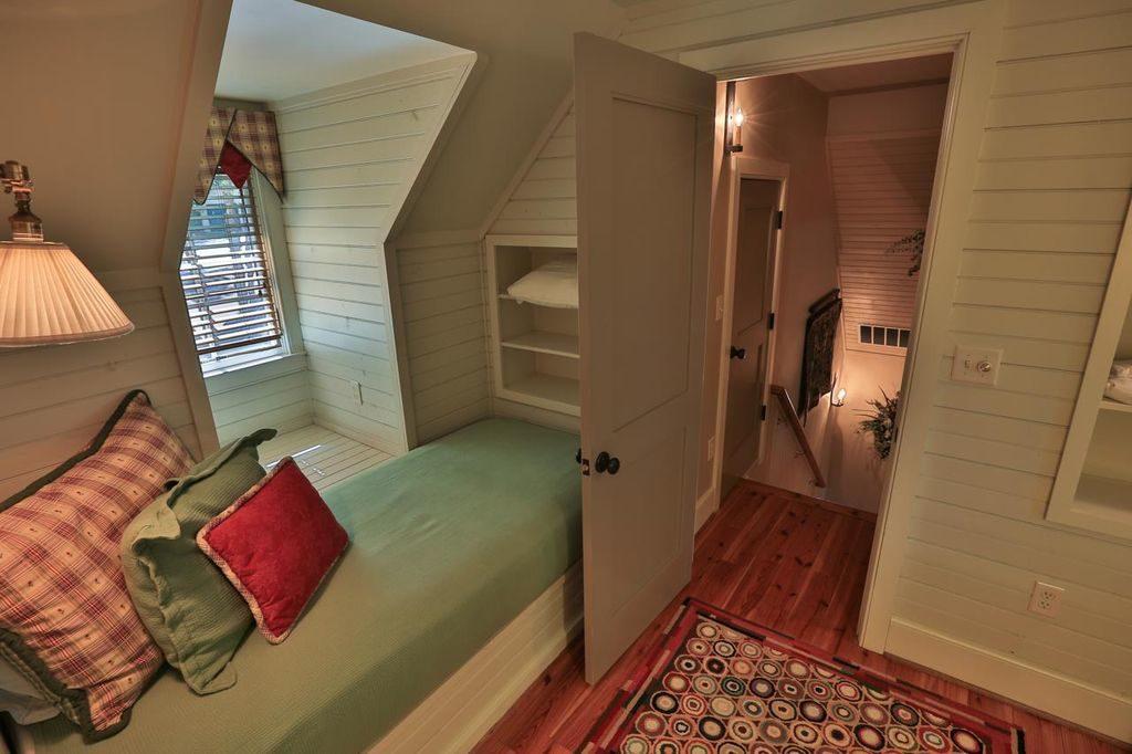 Attic Bedroom Shiplap Walls Dormer Bench Seat