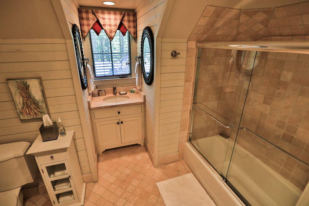Shiplap Walls Bathroom