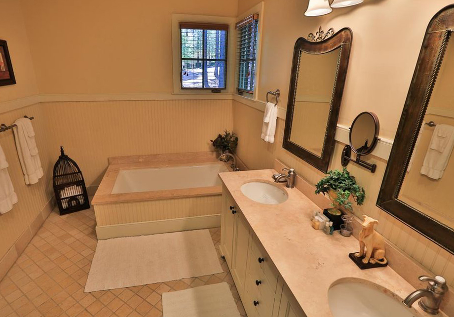 Beadboard Wainscot Master Bathroom