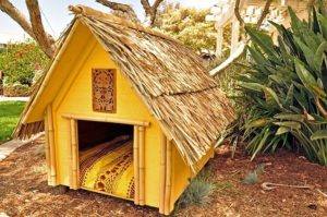 Is Your Owner Moving to The Tropics?  Make Him Buy You This Thatched Roof Dog Palace