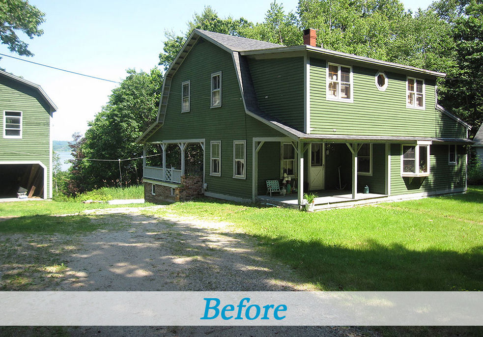 Seaside cottage gambrel roof dutch colonial before and after