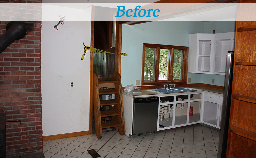 Seaside cottage kitchen before and after