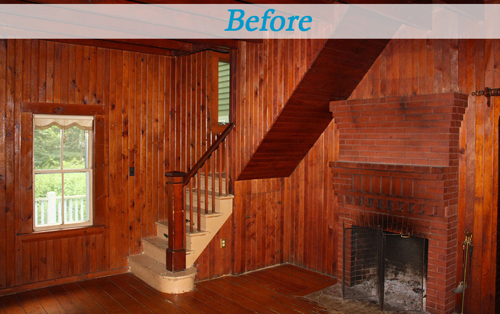 Seaside cottage gambrel roof dutch colonial shingle siding before and after