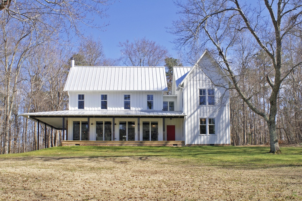 Cabin Remodel Modern Contemporary Farmhouse standing seam metal roof
