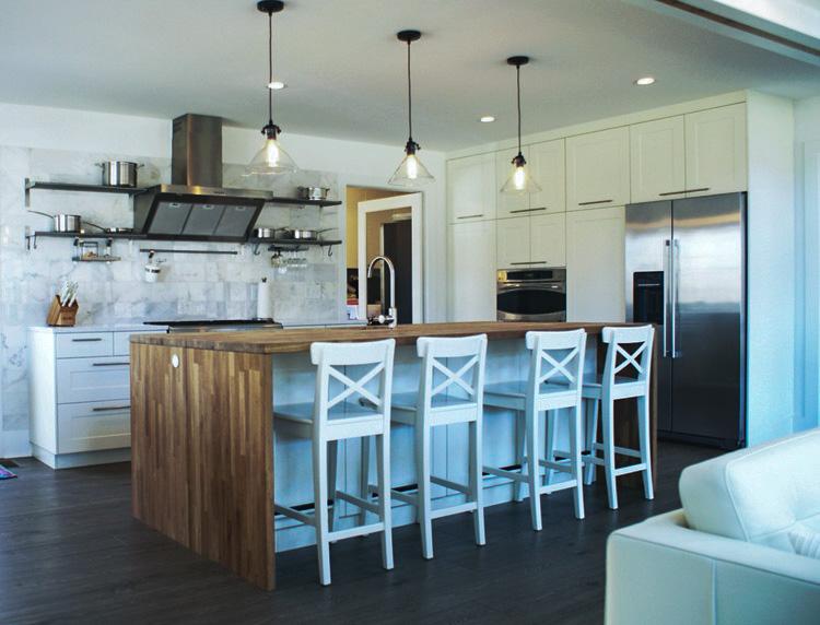 Cabin Remodel Modern Contemporary Farmhouse open kitchen