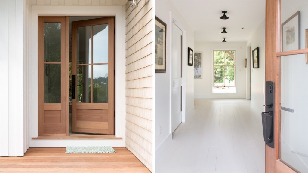 Farmhouse Porch Painted Wood Floors