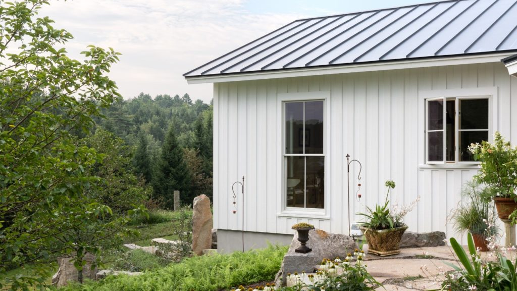 Standing Seam Metal Roof Board and Batten Siding Farmhouse