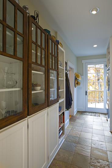 Craftsman Cottage mudroom built in cabinets