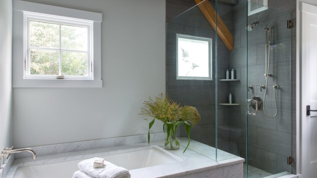 Farmhouse Master Bathroom Custom Shower