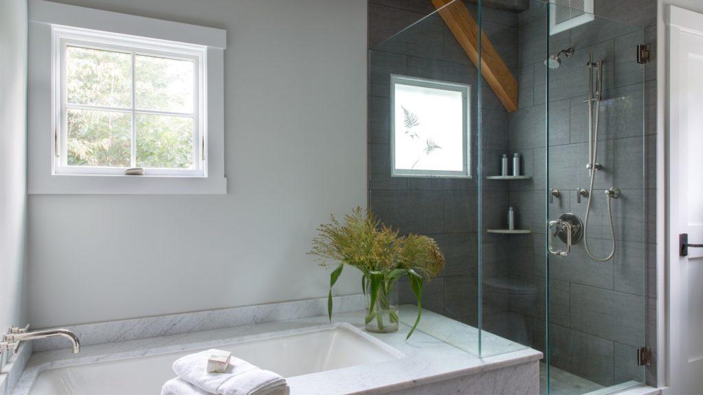 Farmhouse Master Bathroom Custom Shower