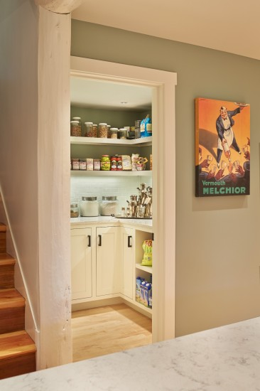 Walk In Pantry in an Arts and Crafts Bungalow
