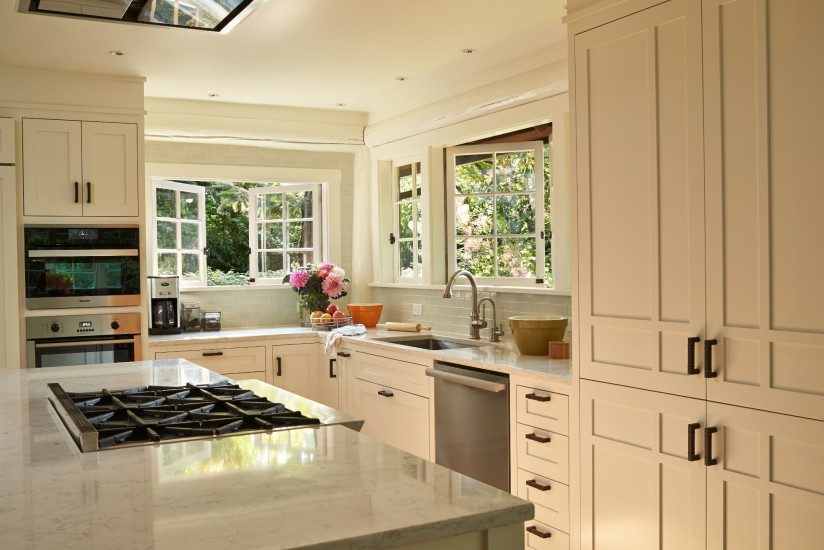 Modern White Kitchen in an Arts and Crafts Bungalow