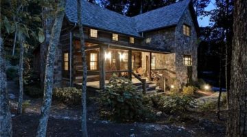 A Rustic Log Cabin that's Practically Luxurious Inside