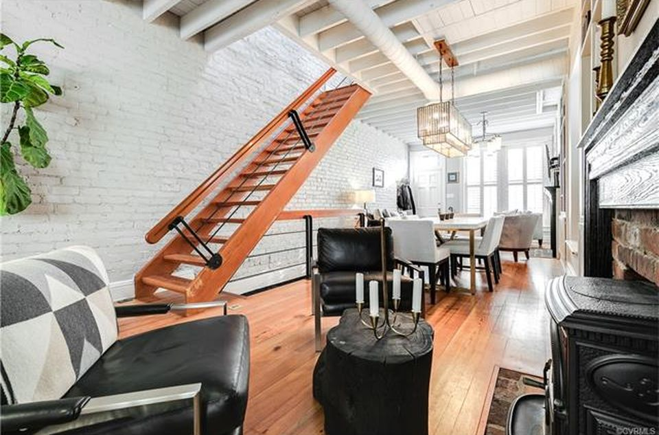 restored brick townhouse