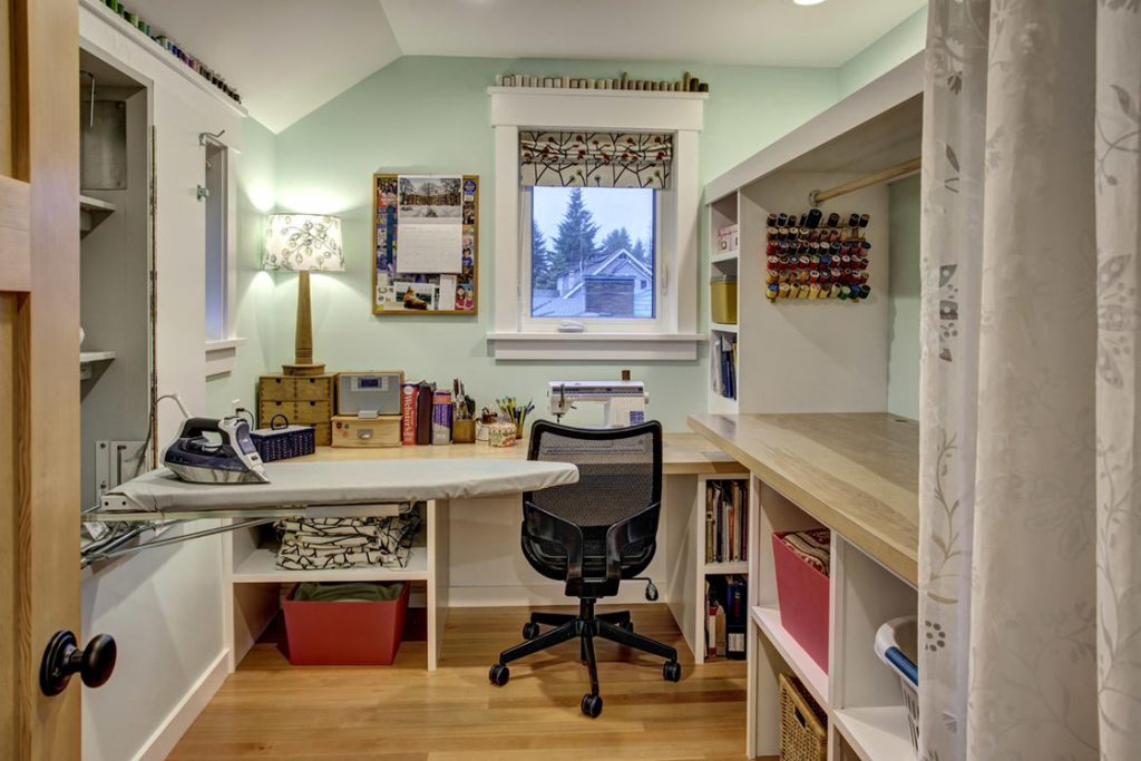 modern farmhouse sewing room
